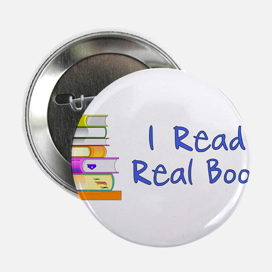 """I Read Real Books 2.25"""" Button"""