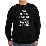 Keep Calm Pug Sweatshirt (dark)
