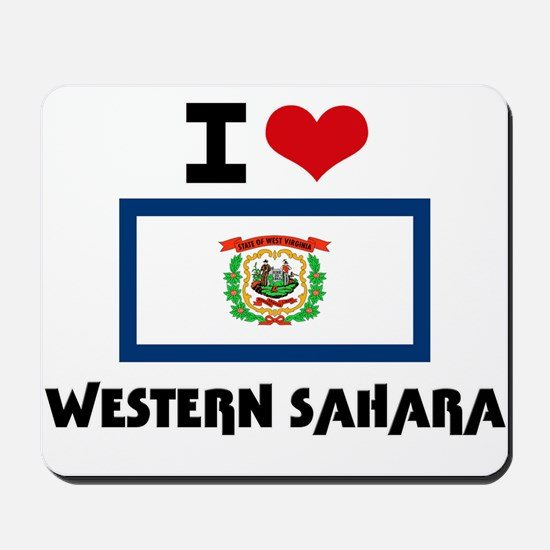 I HEART WESTERN SAHARA FLAG Mousepad