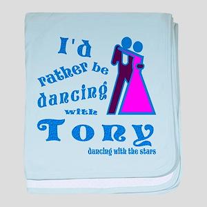 Dancing With Tony baby blanket