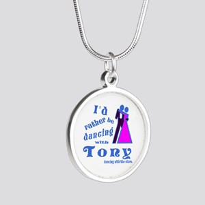 Dancing With Tony Silver Round Necklace