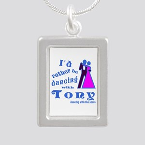 Dancing With Tony Silver Portrait Necklace