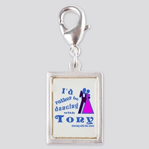 Dancing With Tony Silver Portrait Charm
