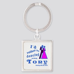 Dancing With Tony Square Keychain