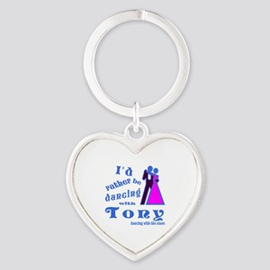 Dancing With Tony Heart Keychain