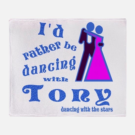 Dancing With Tony Throw Blanket