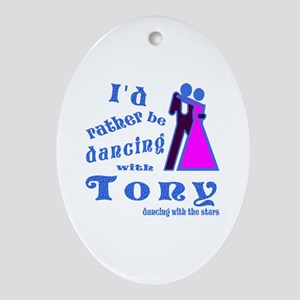 Dancing With Tony Ornament (Oval)