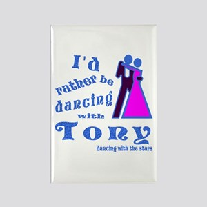 Dancing With Tony Rectangle Magnet