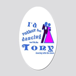 Dancing With Tony 20x12 Oval Wall Decal