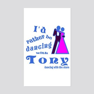 Dancing With Tony Sticker (Rectangle)