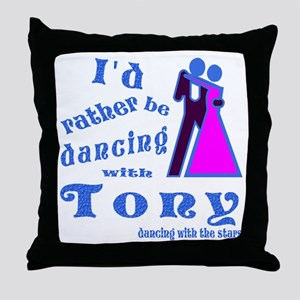 Dancing With Tony Throw Pillow