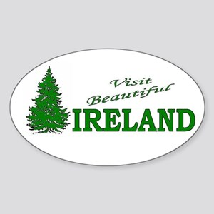 Visit Beautiful Ireland Oval Sticker