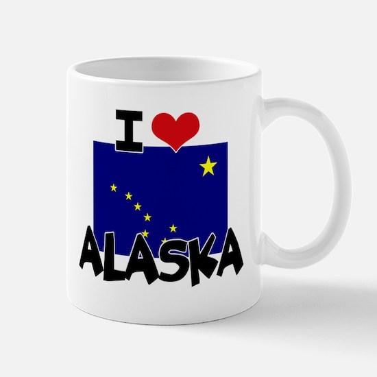 I HEART ALASKA FLAG Mug