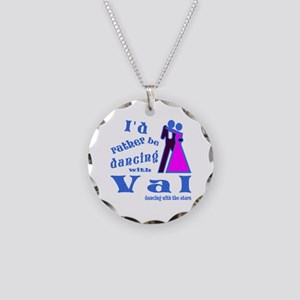 Dancing With Val Necklace Circle Charm