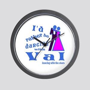 Dancing With Val Wall Clock