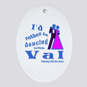 Dancing With Val Ornament (Oval)