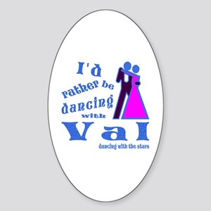Dancing With Val Sticker (Oval)