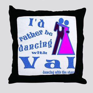 Dancing With Val Throw Pillow