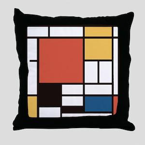 Mondrian Number Two Throw Pillow