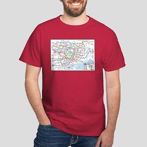 Tokyo Metro Map T-Shirt (red, navy, black, green)