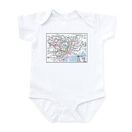 3833dc6f8c Tokyo Metro Map Baby Bodysuit (white