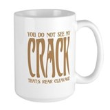 Butt crack Large Mugs (15 oz)