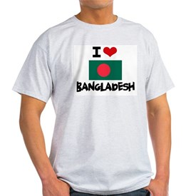 I HEART BANGLADESH FLAG T-Shirt