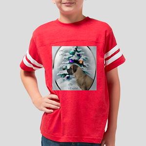 english mastiff christmas squ Youth Football Shirt