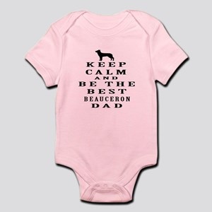 Keep Calm Beauceron Designs Infant Bodysuit
