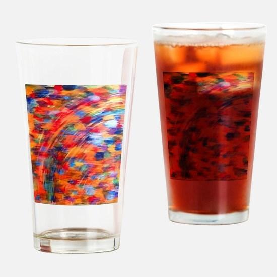 Kente Rainbow Drinking Glass