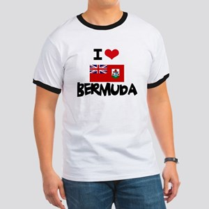 I HEART BERMUDA FLAG T-Shirt