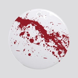 Red Blood Splatter Ornament (Round)