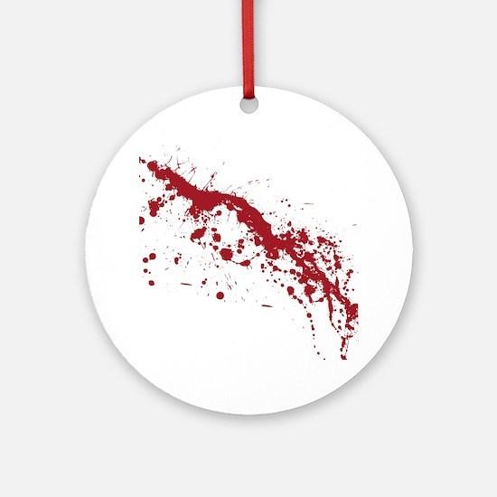 Red Blood Splatter Ornament (Round)