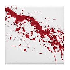 Red Blood Splatter Tile Coaster