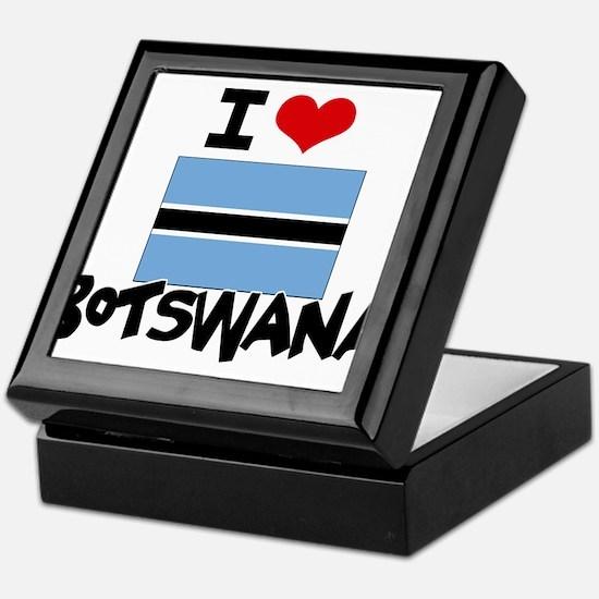 I HEART BOTSWANA FLAG Keepsake Box