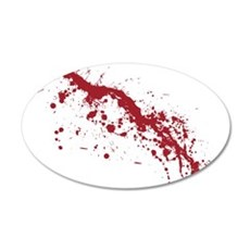 Red Blood Splatter Wall Decal