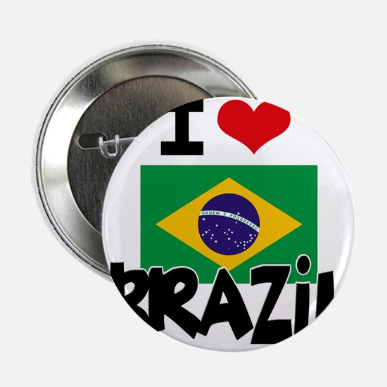 "I HEART BRAZIL FLAG 2.25"" Button"