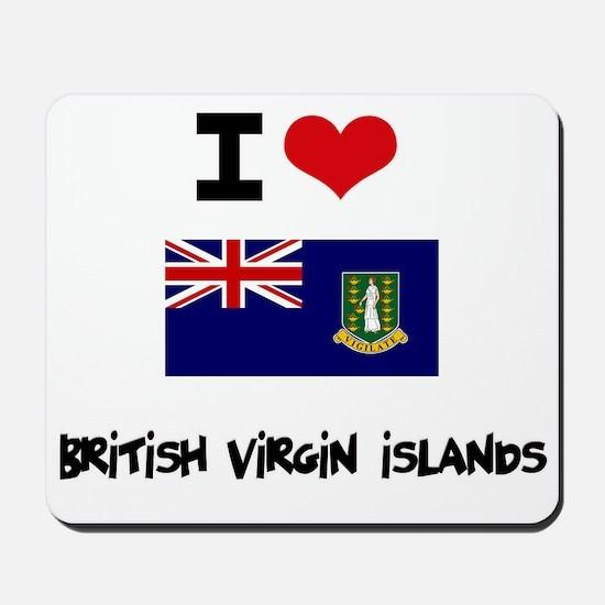 I HEART BRITISH VIRGIN ISLANDS FLAG Mousepad