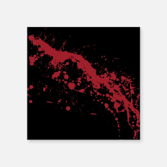 "Red Blood Splatter Square Sticker 3"" x 3"""