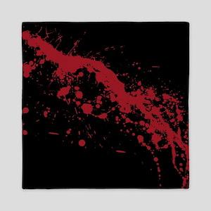 Red Blood Splatter Queen Duvet