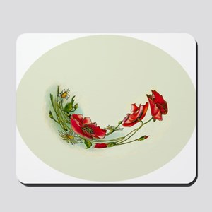 Beautiful Victorian Flower Motif Mousepad