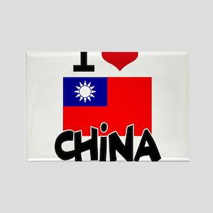 I HEART CHINA FLAG Rectangle Magnet