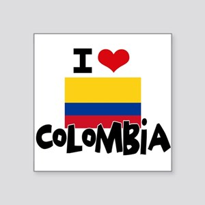 I HEART COLOMBIA FLAG Sticker