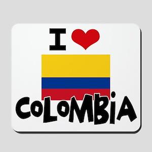 I HEART COLOMBIA FLAG Mousepad