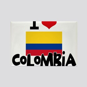 I HEART COLOMBIA FLAG Rectangle Magnet