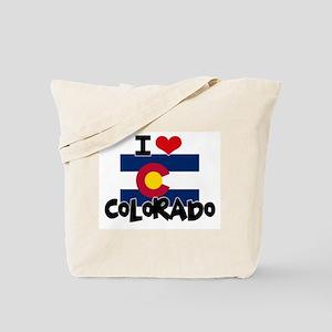 I HEART COLORADO FLAG Tote Bag