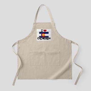 I HEART COLORADO FLAG Apron