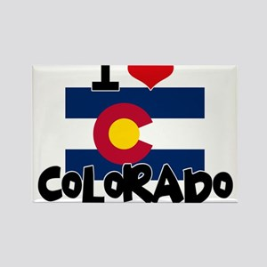 I HEART COLORADO FLAG Rectangle Magnet