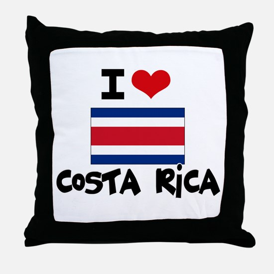 I HEART costa rica FLAG Throw Pillow