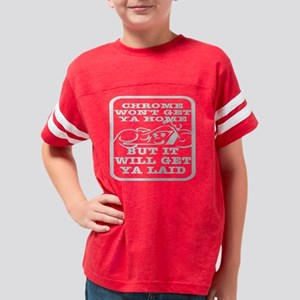 Blk_Chrome_Get_Home_Laid Youth Football Shirt